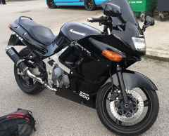 Latest addition - Kawasaki ZZR600 don't be fooled by the style, this is a very comfy bike