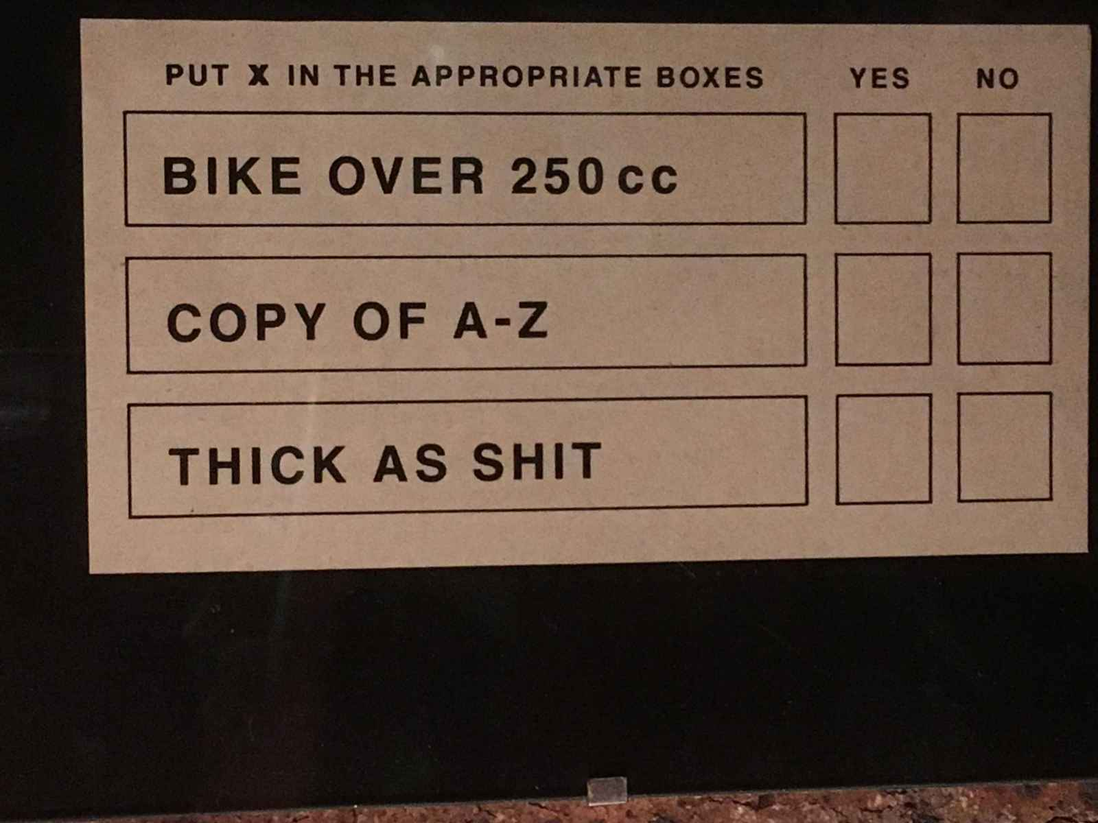 Old Job Advert